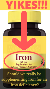 Iron supplement with 65 mg of iron
